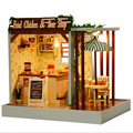 DIY Doll House Beer and Fried Chicken Shop Dollhouse Miniature Toys for Children's Gift,Funny Wood Dolls House with Furniture