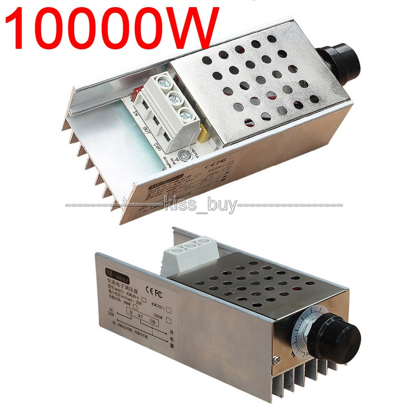 New 220VAC 10000W SCR Speed Controller Voltage Regulator Dimmer Thermostat