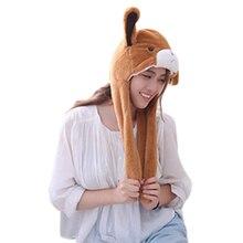 Festa de Halloween Cosplay Mulheres Meninas Chapéus de Urso Marrom Urso de  Pelúcia Cap 82dfe7d466b2