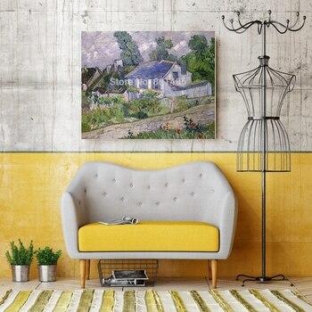 Casas en Auvers Vincent Van Gogh pared arte lienzo pintura para ...