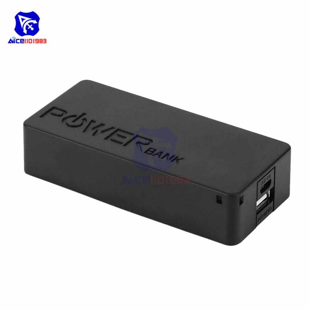 Diymore przenośny Power Bank DIY Case z podwójnymi bateriami 18650 moduł ładowania USB dla iPhone Xiaomi smartfon huawei Camera MP3