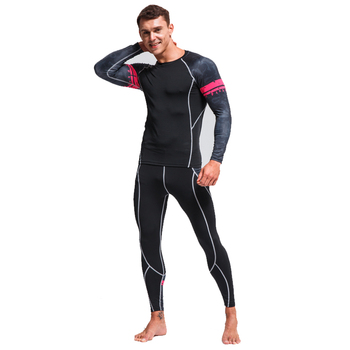 Men's Thermal Underwear Set Winter New Hot Warm Base Layer Running Suit Compression Clothing Rashgard Male Sport Suit S-4XL underwear brand menswear thermal underwear skull 3d pattern printing rashgard kit man tracksuit thermal underwear base layer 4xl