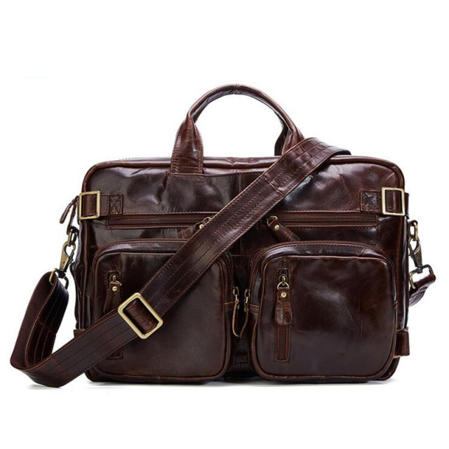 Senkey style 2017 Genuine Leathe Business bag Men Travel Backpack Casual Fashion Document Real Leather Man Office Bag Designer  1