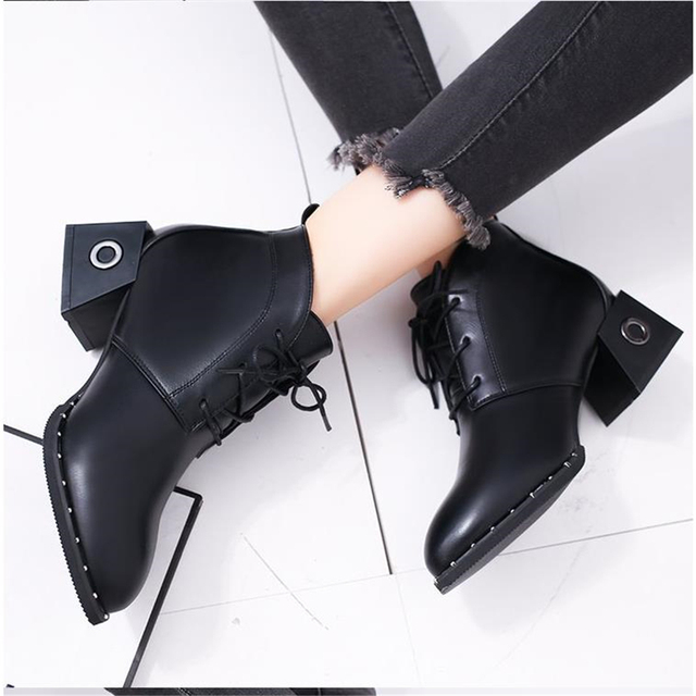 b1e2debba archaize Martin boots winter 2018 new European style with ms pointed ankle ladies  boots British fashion women's boots for girls