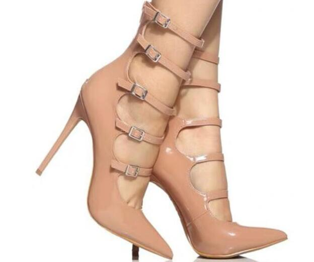 Brand design women fashion Pumps European style women summer boots Genuine leather point toe nude high heels sexy party shoes 42Brand design women fashion Pumps European style women summer boots Genuine leather point toe nude high heels sexy party shoes 42