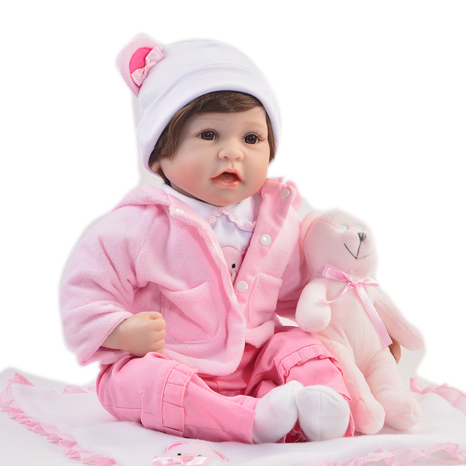 Lifelike 22'' Reborn Boneca Silicone Vinyl Dolls Reborn Girl Toy Truly Real Newborn Baby Doll Princess Kid Birthday Xmas Gift 22 inch 55 cm silicone baby reborn dolls lifelike doll newborn toy girl gift for children birthday xmas