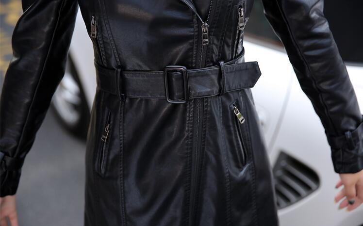 Femmes Marée 2019 Femme Vêtements Longue Noir Femelle 4xl Peau Nouvelle Cuir Survêtement S Manteau En Taille color Grande 2 Noir Slim Wertuiop Veste 4d6nwxaqzq