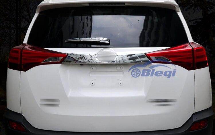 Garniture de moulage de couvercle de coffre arrière chromé pour Toyota RAV4 2014 2015