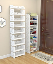 Creative combination shoe rack Elegant convenient disassemble shelf Height changable DIY Shoe Shelf