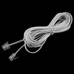 2 pièces haute vitesse 10FT 3 M RJ11 6P4C téléphone ADSL Modem ligne cordon câble 4 broches #22514