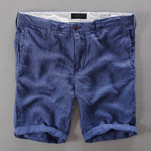 Men Shorts Trousers Summer Casual Fashion Loose Linen Italy 29-38