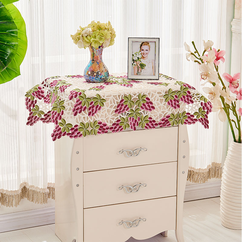 16 Styles For 57x57cm Square Tablecloths Cutwork Embroidered Tablecloth  Floral Table Cloth Dust Covers All