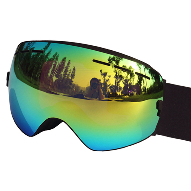 c6d2f6cd9e2 Ski Goggles UV400 Anti-fog Ski Glasses Double Lens Skiing Snowboard  Skateboard Snow Motocross Goggles Ski Eyewear