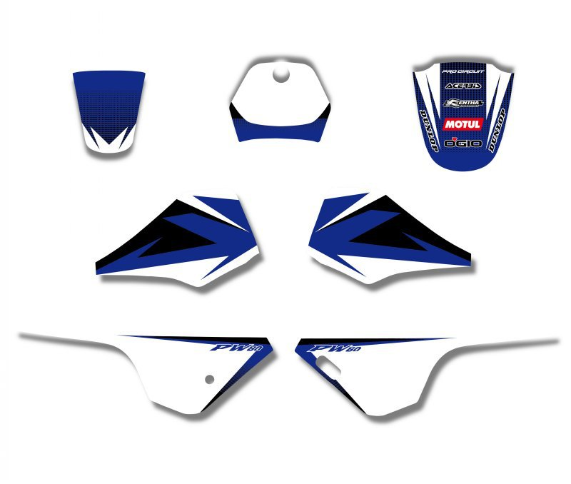 H2CNC GRÁFICOS & FUNDO DECALQUE ADESIVO Kits Para Yamaha PW PW80 80 Todos Os Anos de PIT bike
