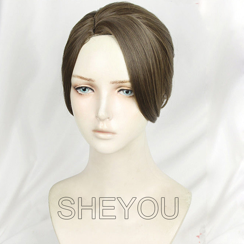 Anime Detroit Become Human Kara Cosplay Wig Styled Brown Heat Resistant Synthetic Hair Costume Wigs + Wig Cap + Track No.