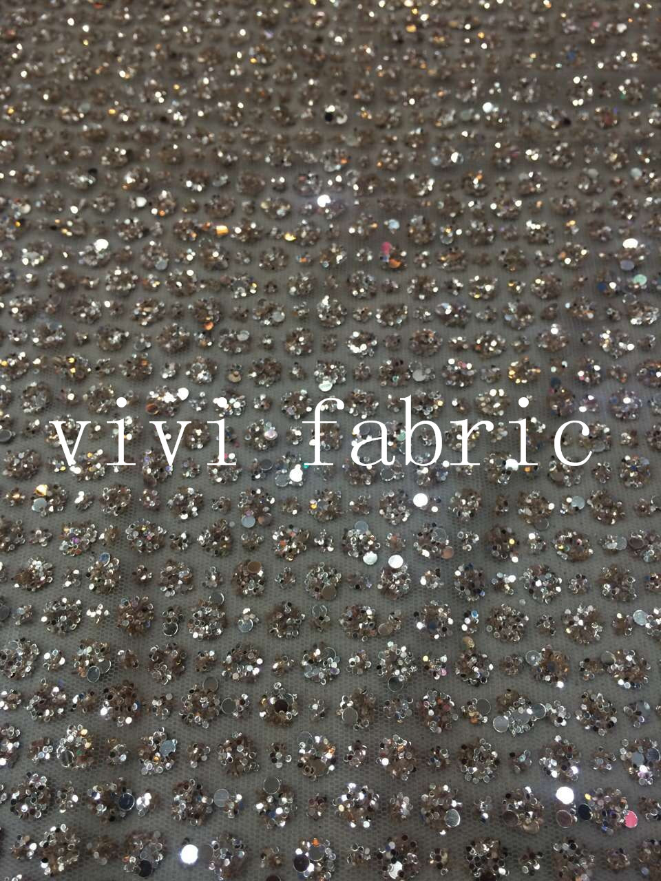 5yards HL304 champagne gold glued print glitter sparkle african india mesh tulle fabric for