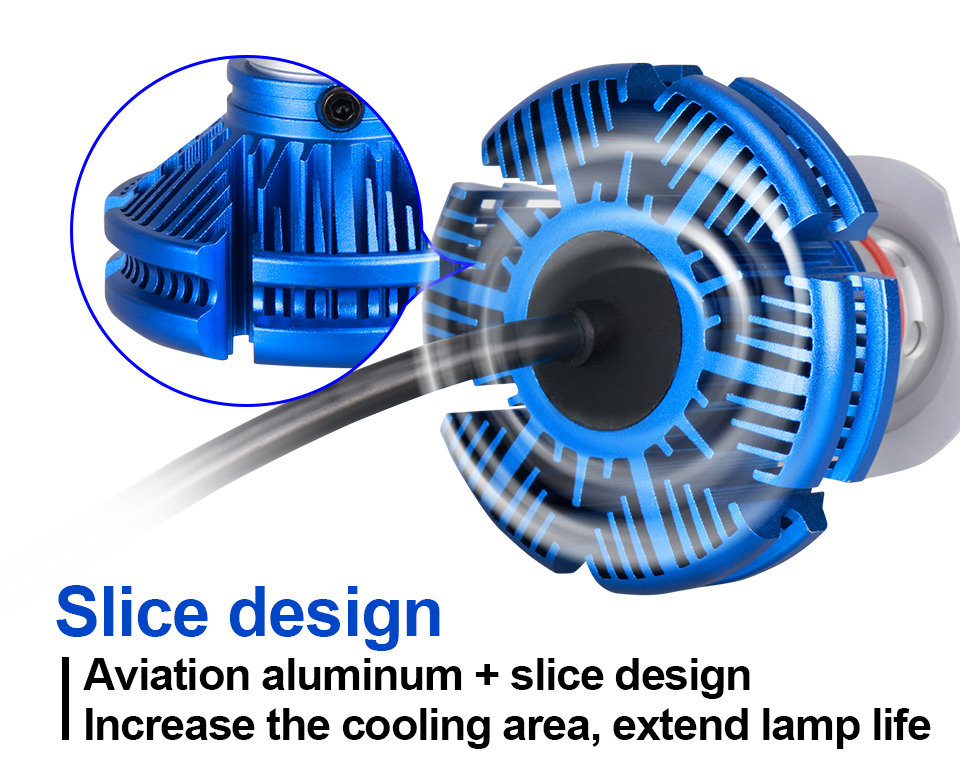 H4 Led CSP Chips H7 LED Headlights Auto-styling Led Car Bulb H1 H11 Fog Lamp Fanless (10)