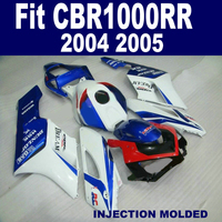 Custom Paint Injection Fairings Kit For HONDA 1000 RR 2004 2005 Blue Red HRC CBR1000RR 04