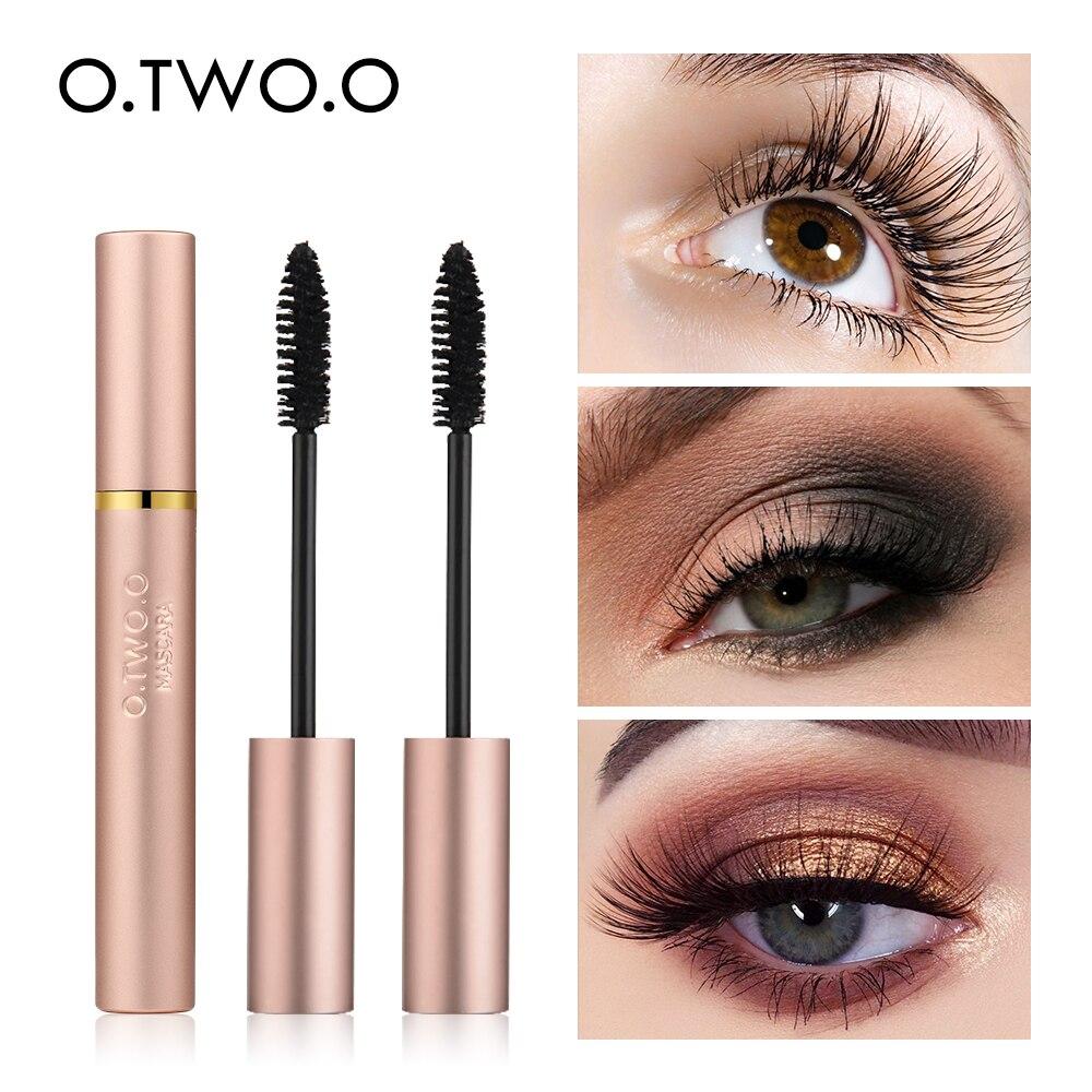 O. TWO. O 3D pestañas de fibra gruesa alargadora pestañas negras largas extensión de pestañas ojo cepillo de pestañas maquillaje Pro Eye-cosmeticos