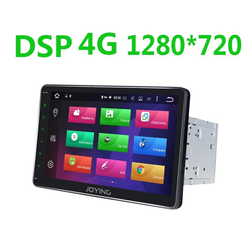 JOYING Android 8.1 din car radio player com DSP 4 2 GB + 64 GB GPS 10.1