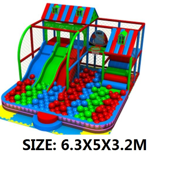 exported to chile custom made kids soft playground with 3 slides