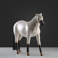 Handmade Lifelike Horse Crafts furnishings Creative Horse Sculpture Ornaments for Home Decorations