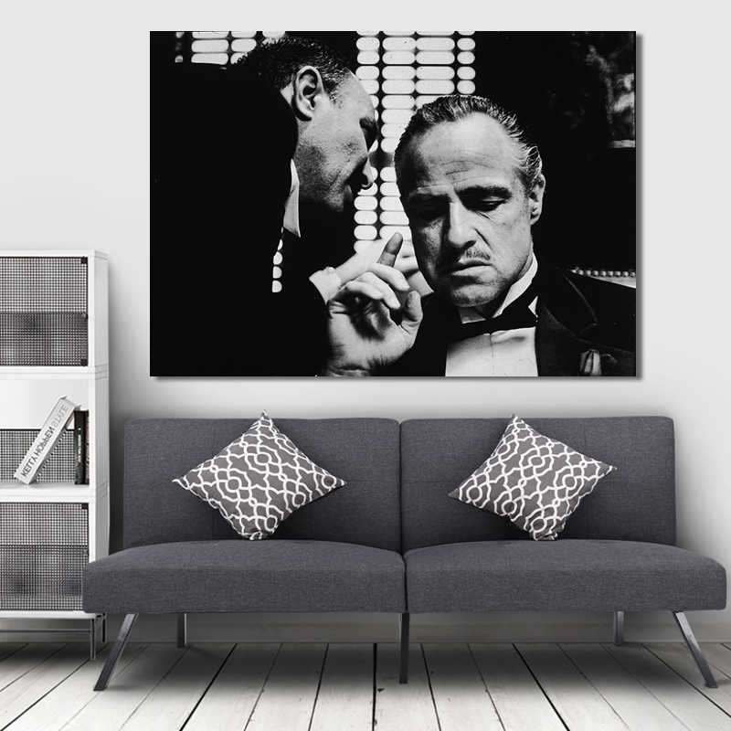 Modern Movie Posters and Prints Wall Art Canvas Painting arlon Brando Godfather Decorative Pictures for Living Room Home Decor