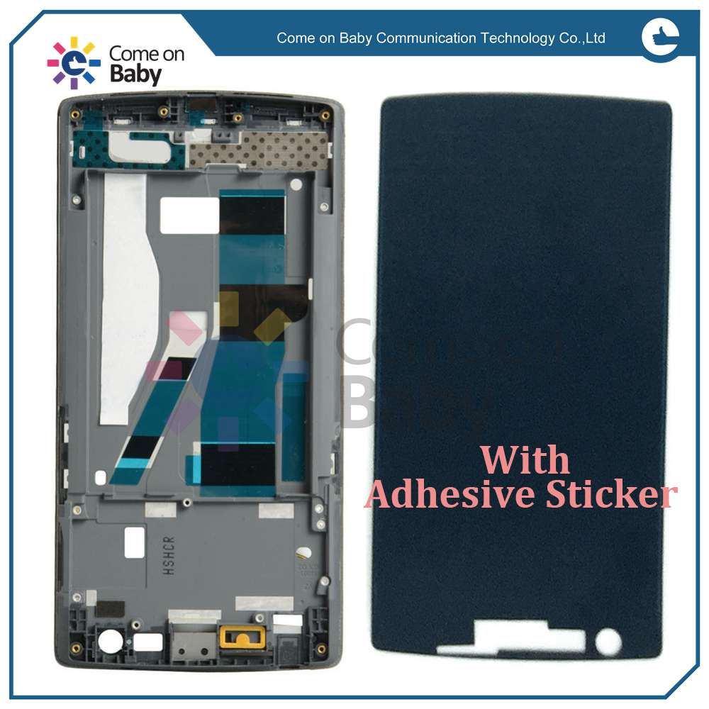 Oneplus One Front Bezel Frame Faceplate Housing Case + Adhesive Sticker For Oneplus One A0001 (in stock) you can pay