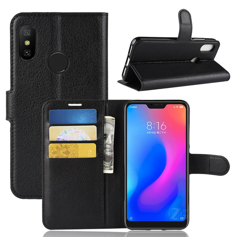 Baicvery Hot Case for <font><b>Xiaomi</b></font> <font><b>Mi</b></font> A2 Lite Global Version MiA2 Lite <font><b>A2Lite</b></font> Card Slot Leather Cover for <font><b>Xiaomi</b></font> A2 Lite <font><b>5.84</b></font> image