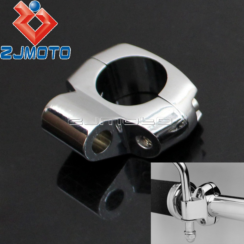 """Stainless Steel Motorcycle 1/"""" Handlebar Accessory Mirror Mount Holder Clamp New"""