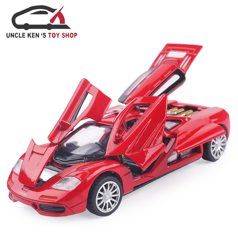 Diecast Scale Model Car, 1/32 Alloy Toys With Music/Light/Pull Back Function
