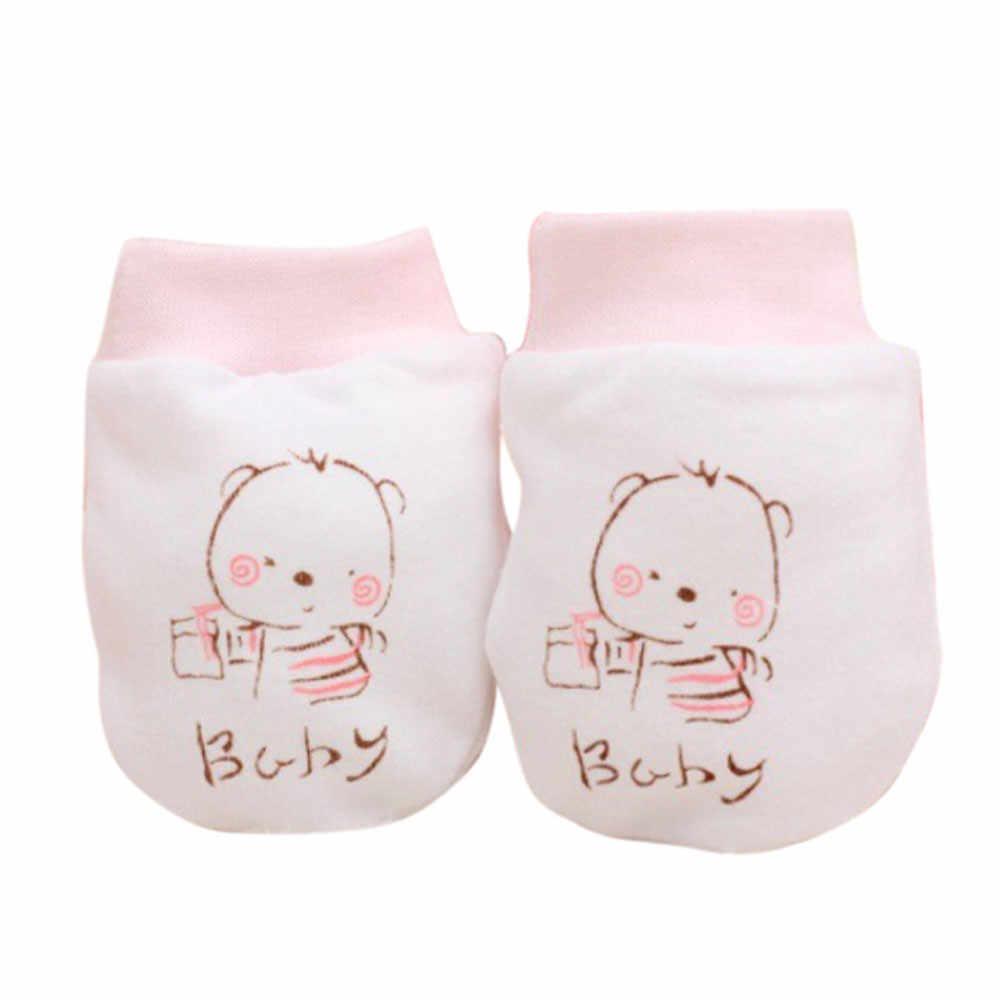 2 זוגות חמוד קריקטורה תינוק בני בנות ילדים חורף כפפות אנטי גרד רך יילוד תינוק כפפות כפפות Manoplas Bebe