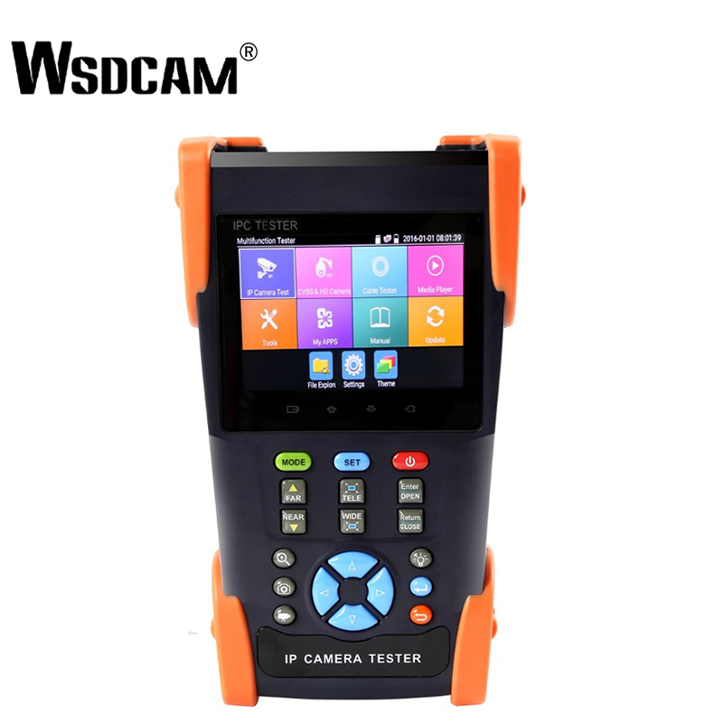 Wsdcam 3500 Plus 3.5 Inch IP Camera Tester Analog Camera Tester Security CCTV Tester With RJ45 TDR POE 4K H.265 ONVIF POE