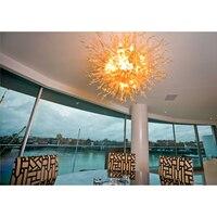 Longree элегантный белый подвесной светильник LED стеклянные люстры потолочный светильник для спальни для домашнего офиса декора