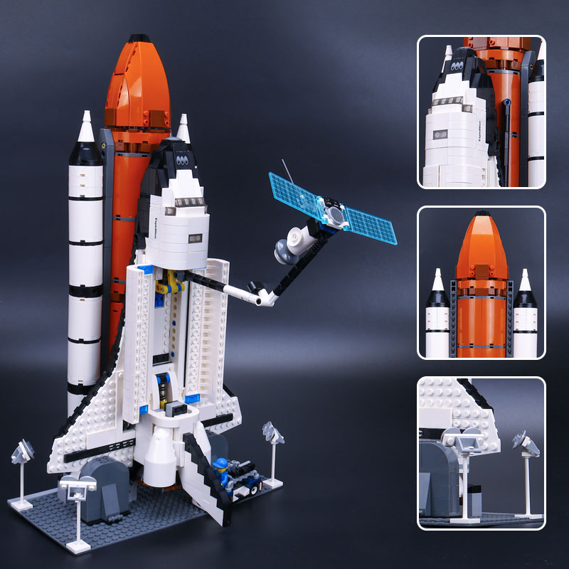 IN STOCK XYTMC 16014 1230Pcs Out of Print Space Shuttle Expedition LEPIN Model Building Kits Set Blocks Bricks Toy LEGOusy 10231 in stock new lepin 16014 1230pcs space shuttle expedition model building kits mini blocks bricks compatible children toy 10231