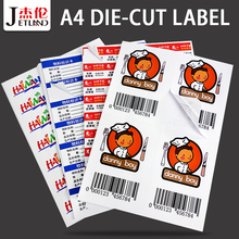 Jetland A4 Adres Label Vellen Zelfklevend Verzending FBA Stickers Laser/Inkjet Printer, a4 gestanst Stickers, 50 Sheets/Pack