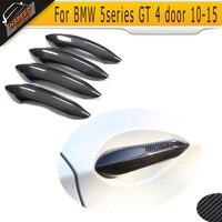 4pcs 5 series Carbon Fiber Door Handle Bar Trim Cover For BMW 5series GT 4 door 2010 2015 Nonfit LED handle|handle trim|led door handledoor handle led -