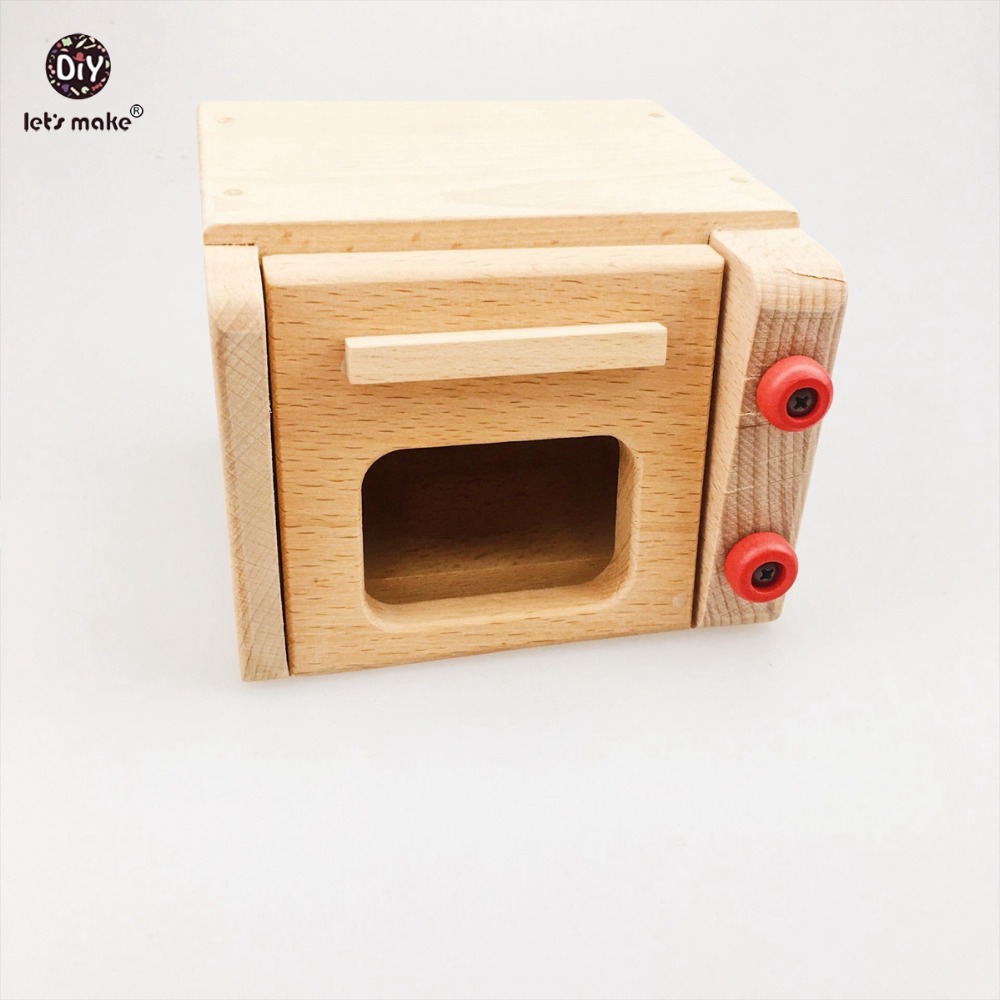 Let's make Beech Wood Microwave Oven Blocks Wooden Children Learning Education Toy For Children Teething Montessori Toys Blocks 120pcs cartoon wooden jigsaw puzzle education toy for kid children baby montessori wooden toys
