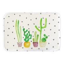 Cute Art Painting Cactus Plants Doormat Indoor Outdoor Floor Mat For Living Room Bedroom Home Decor Short Plush Door Mats