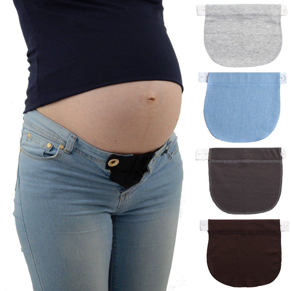 Belt Pregnancy Extender Maternity Pants Soft Jeans Elastic Waist Adjustable Waistband