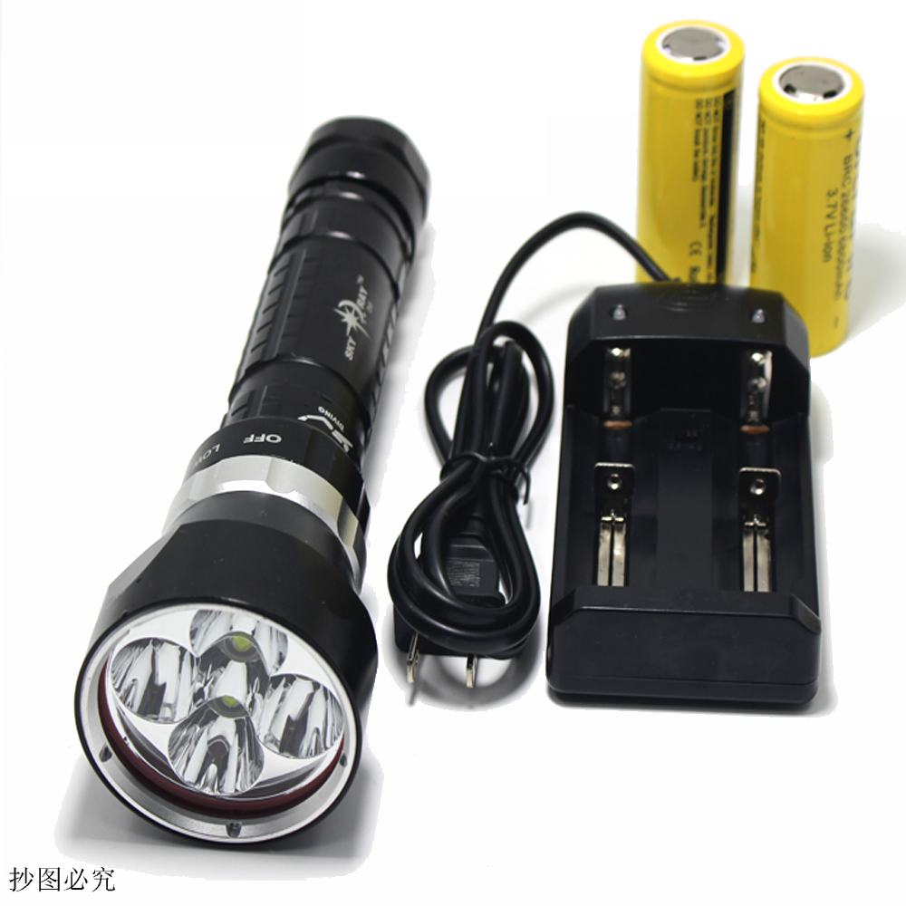 50W 3-Mode 15000 Lumen XM-L2 5 x L2 LED Diving Flashlight Torch 200M Underwater Waterproof LED Flash Light Lantern