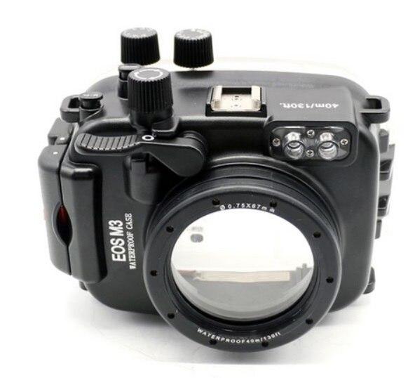 Meikon 40 m/130ft boîtier étanche pour Canon EOS M3 (22mm Port) (18-55mm Port) Caméra sous-marine Logement pour EOS Mark III Marque 3