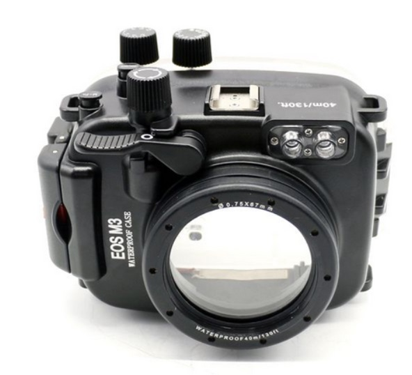 Meikon 40m/130ft waterproof case for Canon EOS M3 (22mm Port ) (18-55mm Port) Underwater Camera Housing for EOS Mark III Mark 3