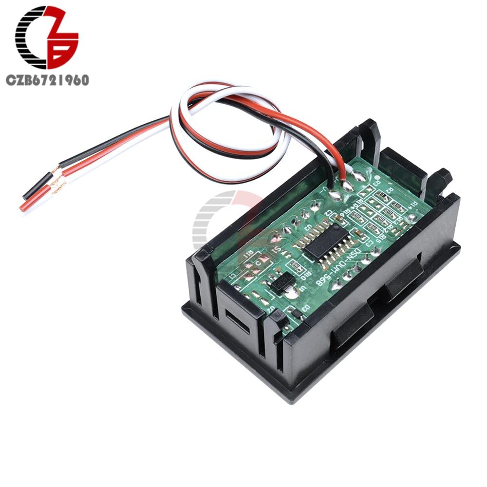 "HTB1RDLKXOnrK1Rjy1Xcq6yeDVXaP 3 Wire 0.56"" LED Digital Voltmeter Voltage Meter Car Motorcycle Volt Tester Detector DC 12V Capacity Monitor Red Green Blue"