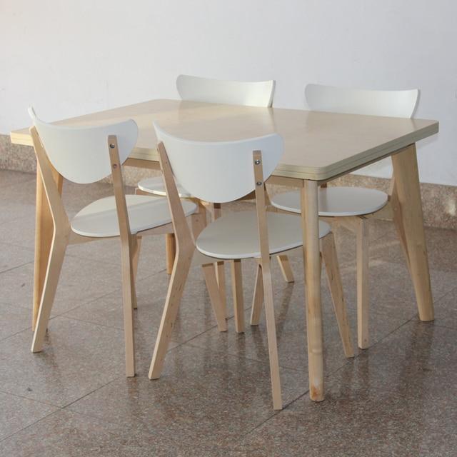 Estilo IKEA mesa de comedor y sillas mesas rectangulares laminado de ...