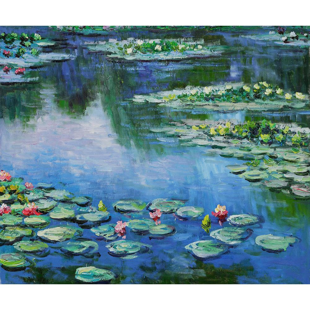 Large wall landscape pictures Water Lilies III Claude Monet oil painting on canvas modern home decor