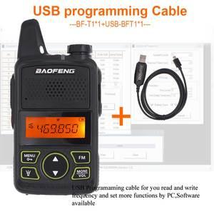Image 2 - Baofeng BF T1 Mini Radio bidirectionnelle tenue dans la main UHF 400 470MHz 20CH FM talkie walkie avec écouteur ou + câble USB