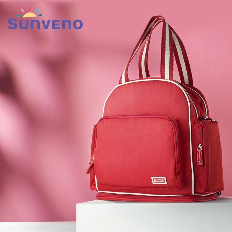 Sunveno Diaper Bag Backpack Waterproof Maternity Bag High-Capacity Travel Backpack Mummy Nappy Bag Stroller Bag for Baby Care sunveno diaper bag backpack waterproof maternity bag high capacity travel backpack mummy nappy bag stroller bag for baby care