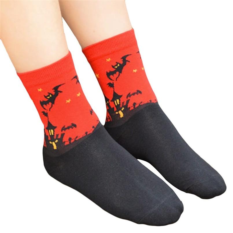 Women's Fashion Sports Socks Medium Work Business Socks Halloween printed Coral Fleece socks Highly elastic warm socks #2s26 (6)