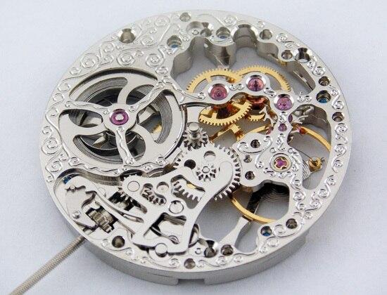 Jewels Completa Movimento Esqueleto Mão Liquidação Mecânico Fit Parnis Homens Ver P74 17